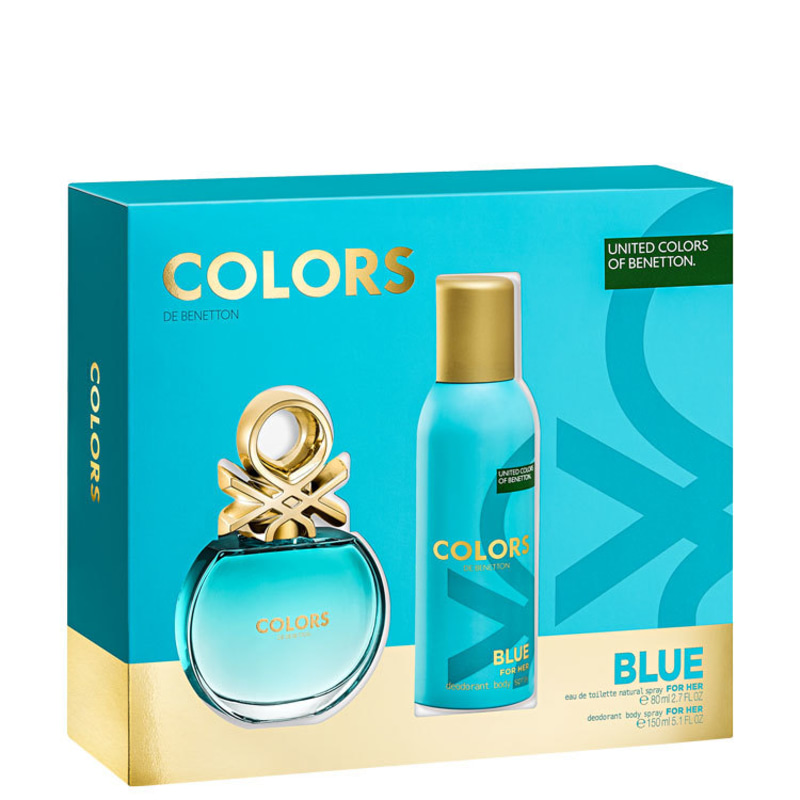 Conjunto Colors Blue Benetton Feminino - Eau de Toilette 80ml + Desodorante 150ml