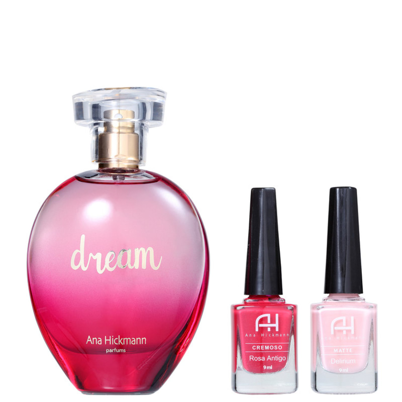 Conjunto Dream Ana Hickmann Feminino - Eau de Cologne 80ml + Esmalte 9ml 2un