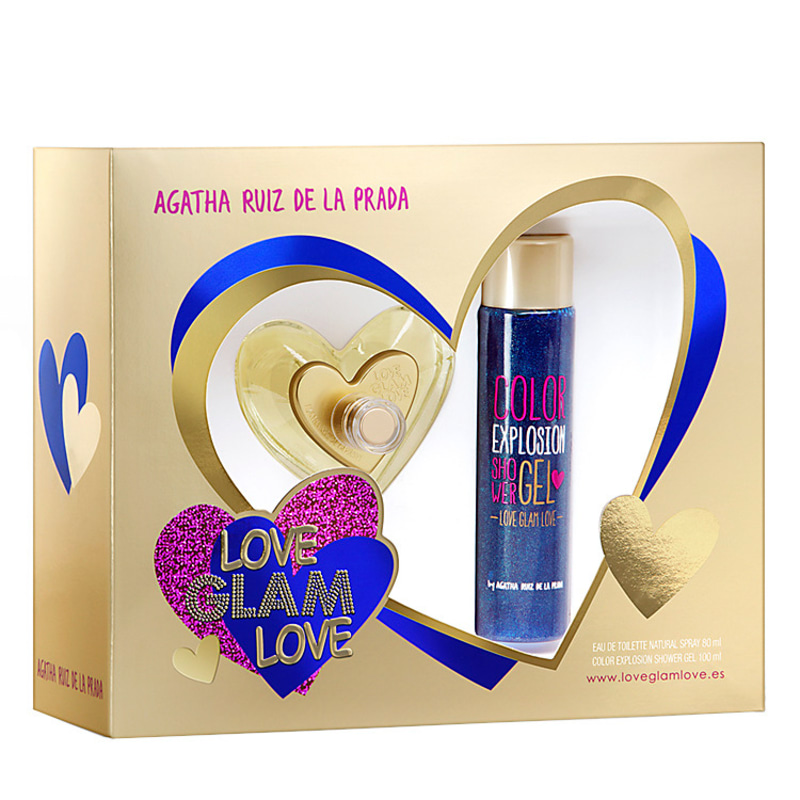 Conjunto Love Glam Love Agatha Ruiz de La Prada Feminino - Eau de Toilette 80ml + Gel de Banho 100ml
