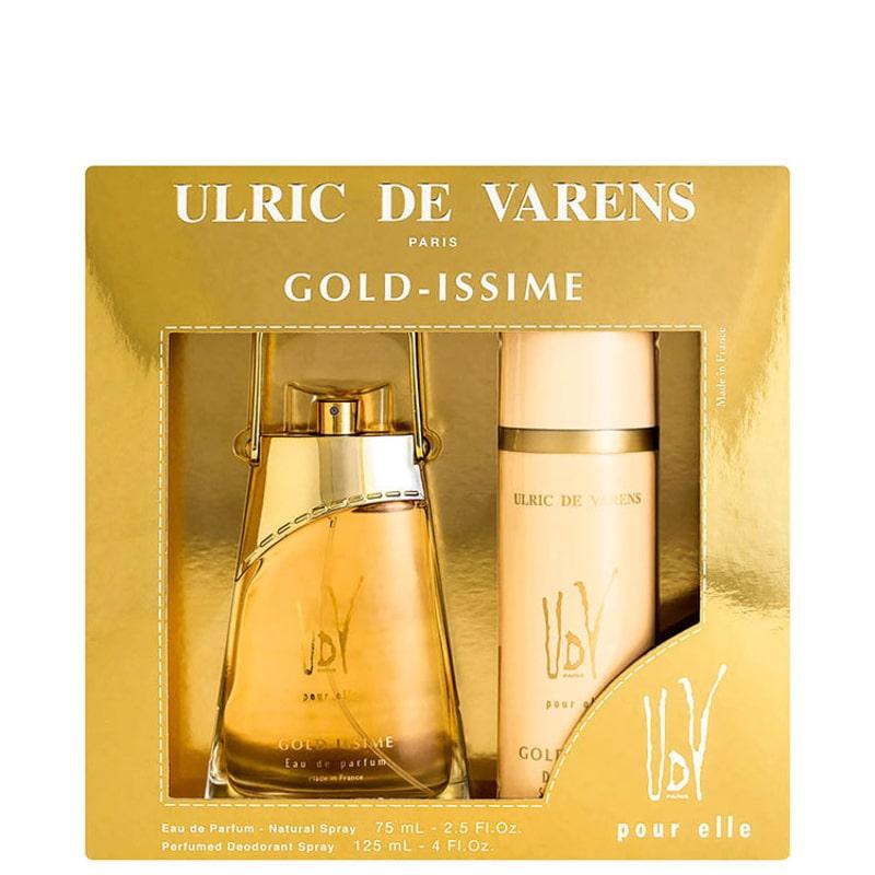 Conjunto Gold-Issime Ulric de Varens Pour Elle Feminino - Eau de Parfum 75ml + Desodorante 125ml