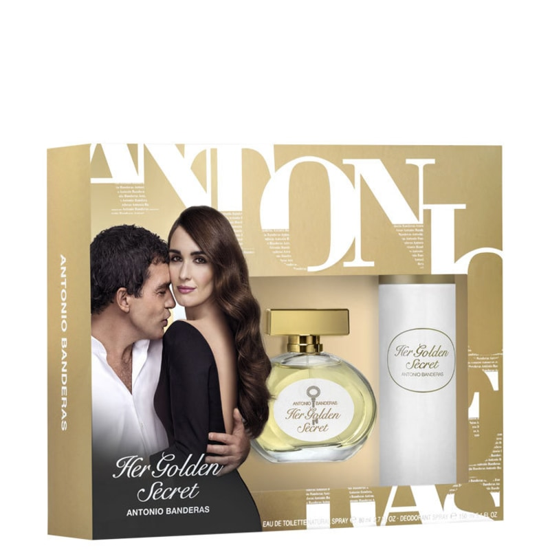 Conjunto Her Golden Secret Antonio Banderas Feminino - Eau de Toilette 80ml + Desodorante 150ml