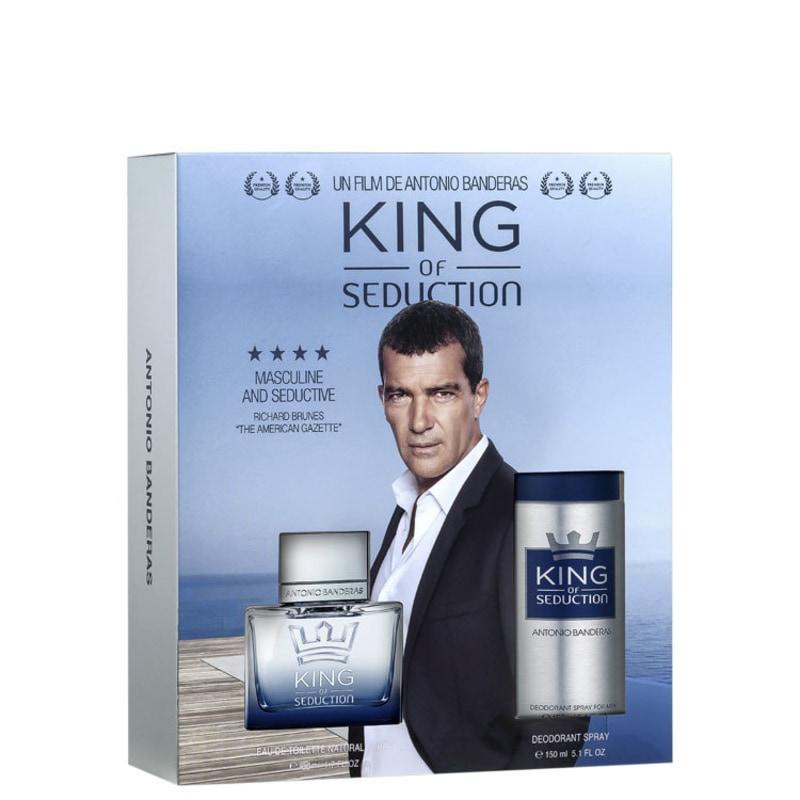 Conjunto King of Seduction Antonio Banderas Masculino - Eau de Toilette 100ml + Body Spray 150ml