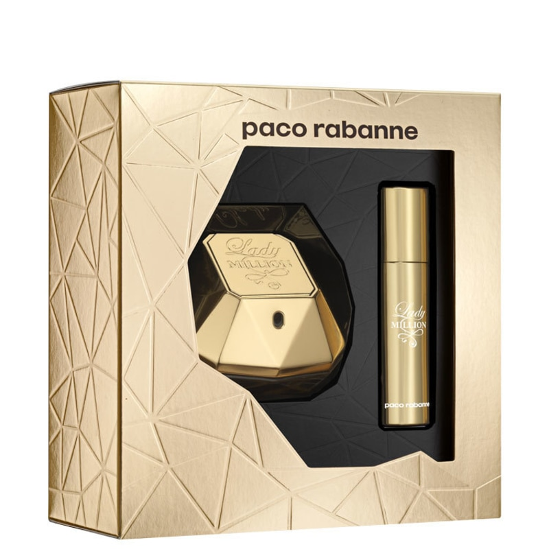 Conjunto Lady Million Paco Rabane Feminino - Eau de Parfum 50ml + Travel Size 10ml