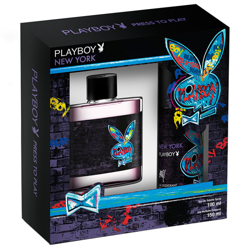 Estojo New York Playboy Eau de Toilette Masculino 100 Ml
