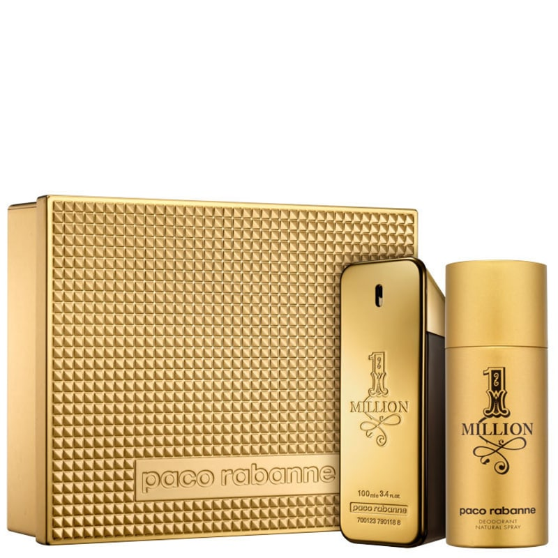 Conjunto 1 Million Edição Limitada Paco Rabanne Masculino - Eau de Toilette 100ml + Desodorante 150ml