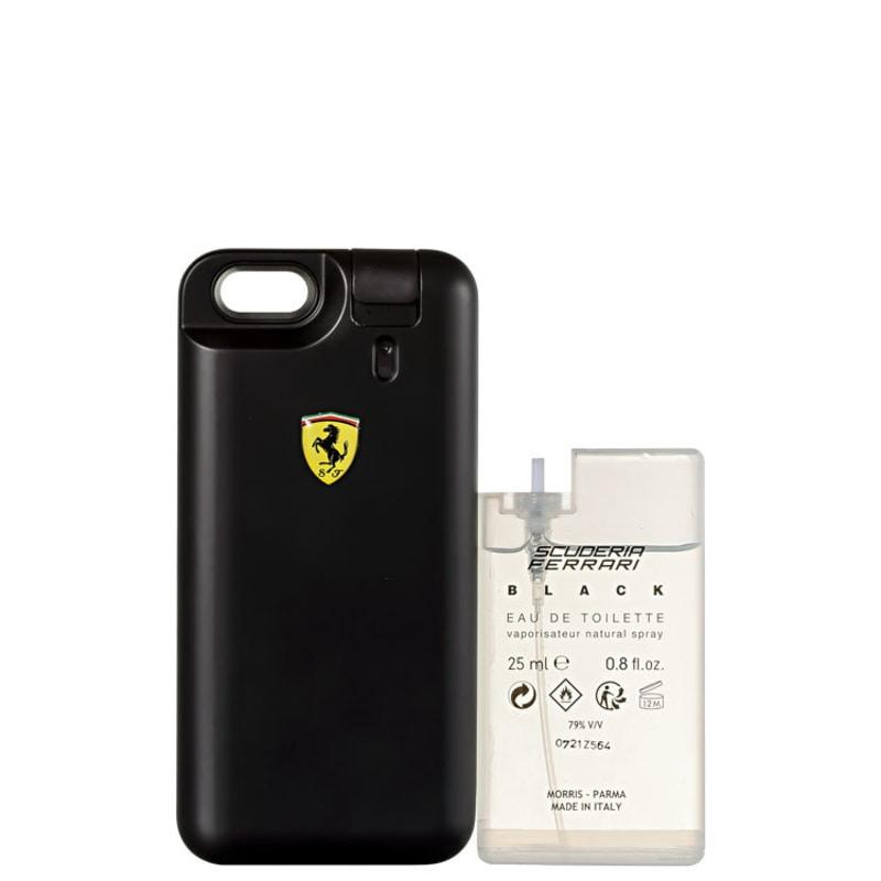 Conjunto Scuderia Ferrari Black Ferrari Masculino - Capa Para iPhone Eau de Toilette 25ml + Refil Eau de Toilette 25ml
