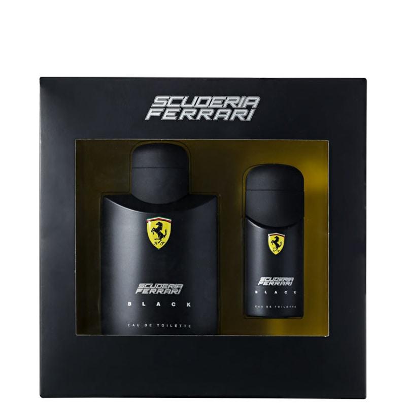 Conjunto Scuderia Ferrari Black Ferrari Masculino - Eau de Toilette 125ml + Eau de Toilette 30ml