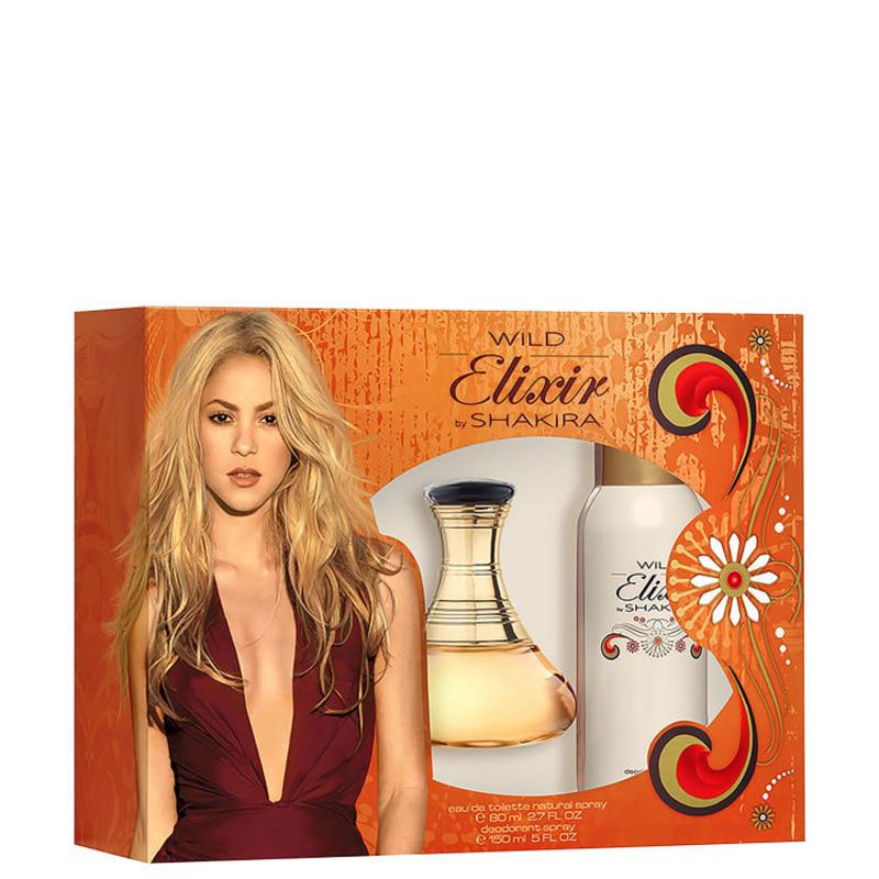 Resultado de imagem para Wild Elixir by Shakira Edt Perfume 80ml + Desodorante 150ml