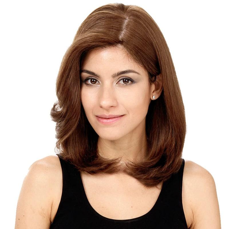 Crown Wigs Carol Cor Castanho Médio/ Claro/Louro Escuro - Peruca 35cm