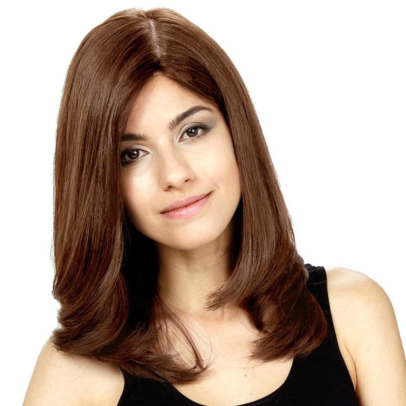 Crown Wigs Diana Cor Castanho Médio/ Claro/ Louro Escuro - Peruca 45cm
