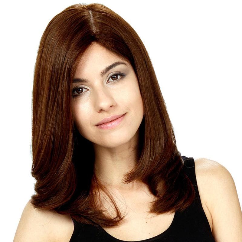 Crown Wigs Diana Cor Castanho Médio - Peruca 45cm