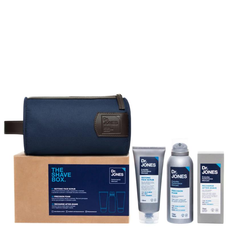 Kit Barba Dr. Jones The Shave Box (3 produtos + Nécessaire)