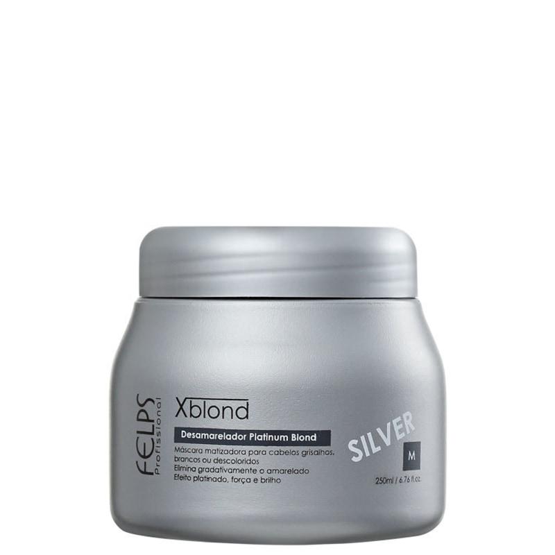 Felps Profissional Xblond Magic Clay Silver - Máscara Matizante 250ml