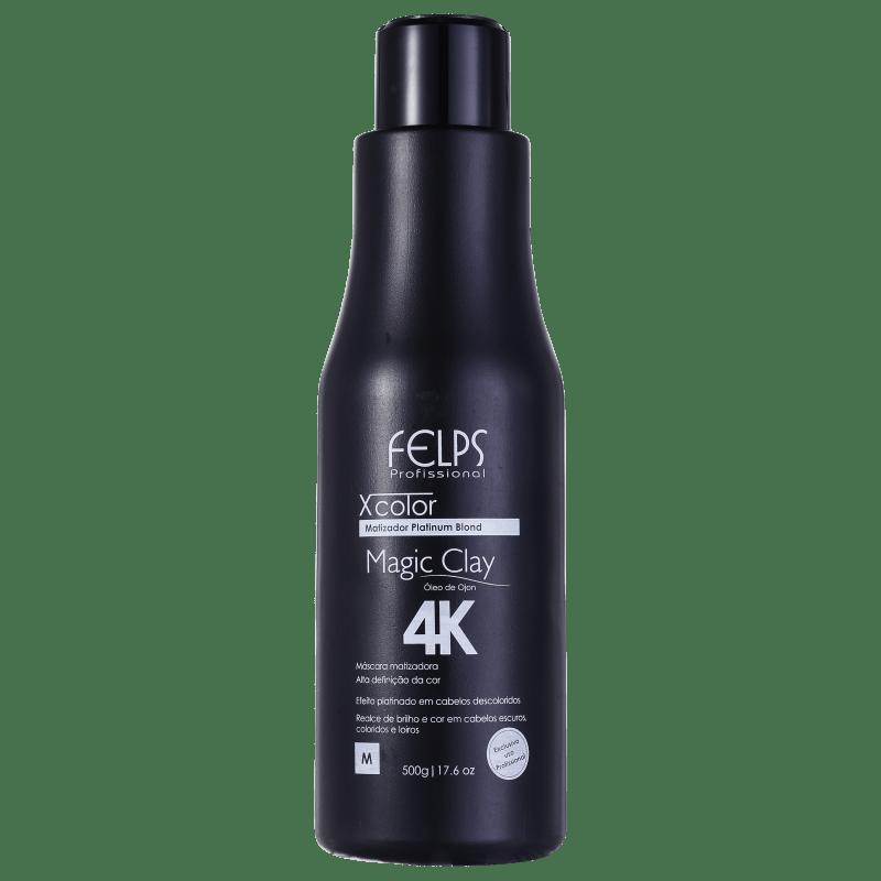 Felps Profissional XColor Magic Clay 4K - Máscara Matizadora 500g