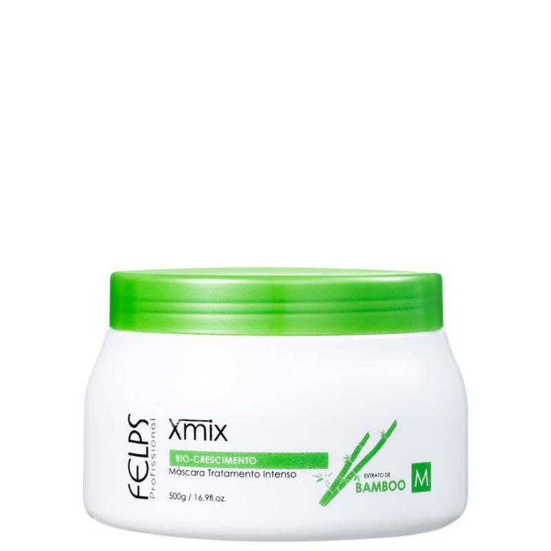 Felps Profissional XMix Bio-Crescimento Extrato de Bamboo - Máscara de Tratamento 500g