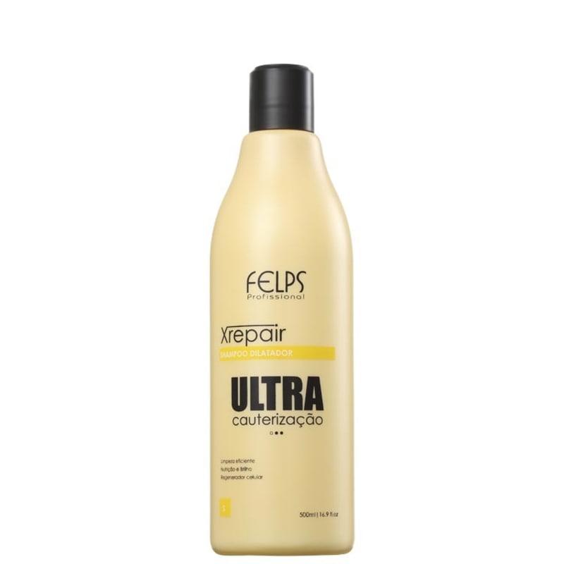 Felps Profissional XRepair Ultra Cauterização Dilatador - Shampoo de Limpeza Profunda 500ml