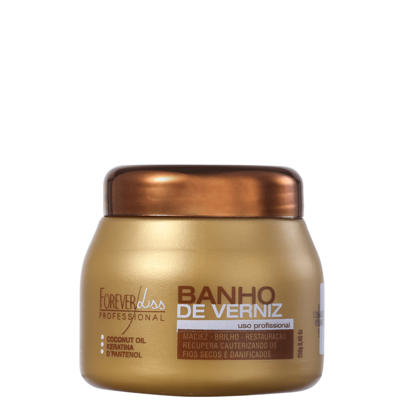 Forever Liss Professional Banho de Verniz - Máscara Capilar 250g
