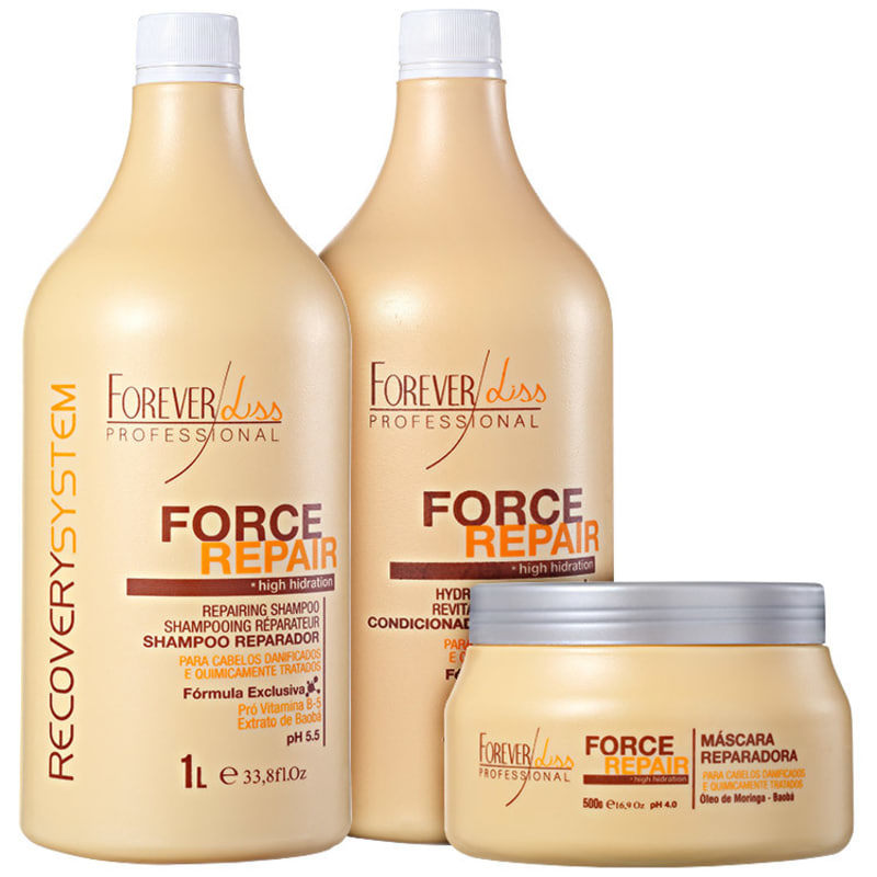 Forever Liss Professional Force Repair Salon Trio Kit (3 Produtos)