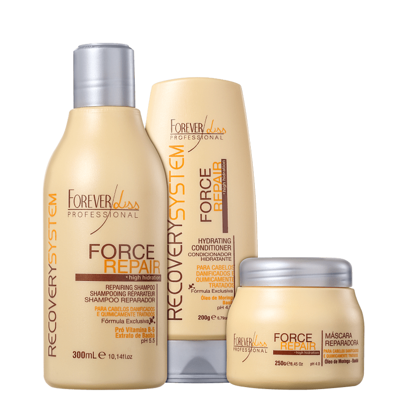 Kit Forever Liss Professional Force Repair Trio (3 Produtos)