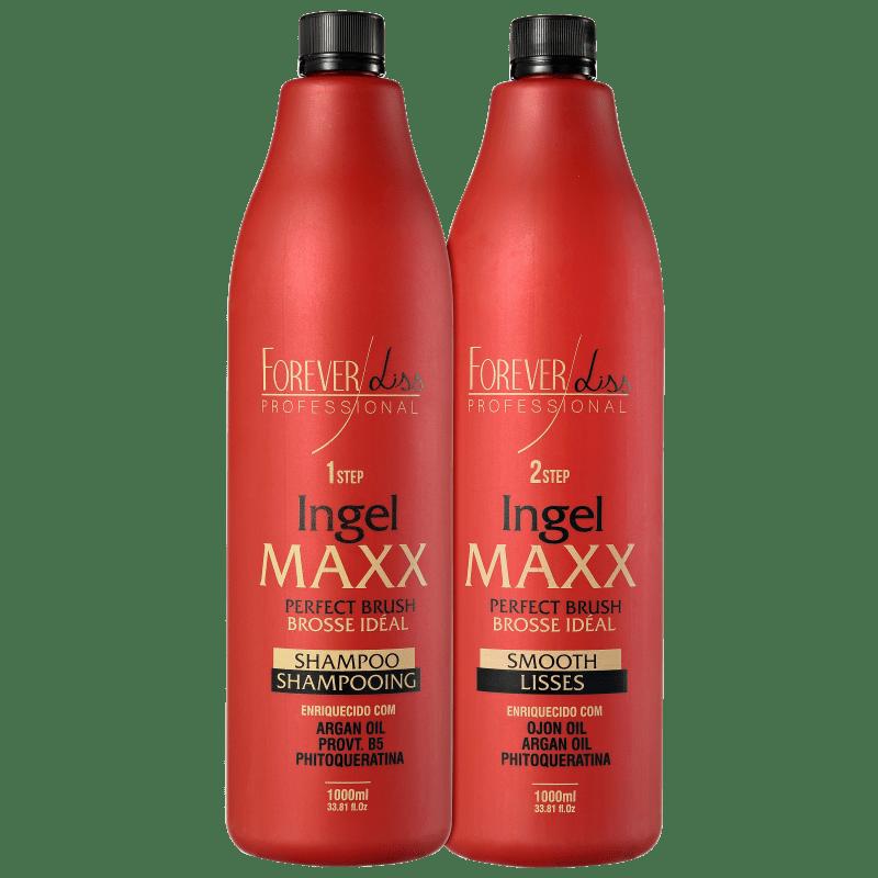 Kit Forever Liss Professional Ingel Maxx Escova Progressiva (2 Produtos)