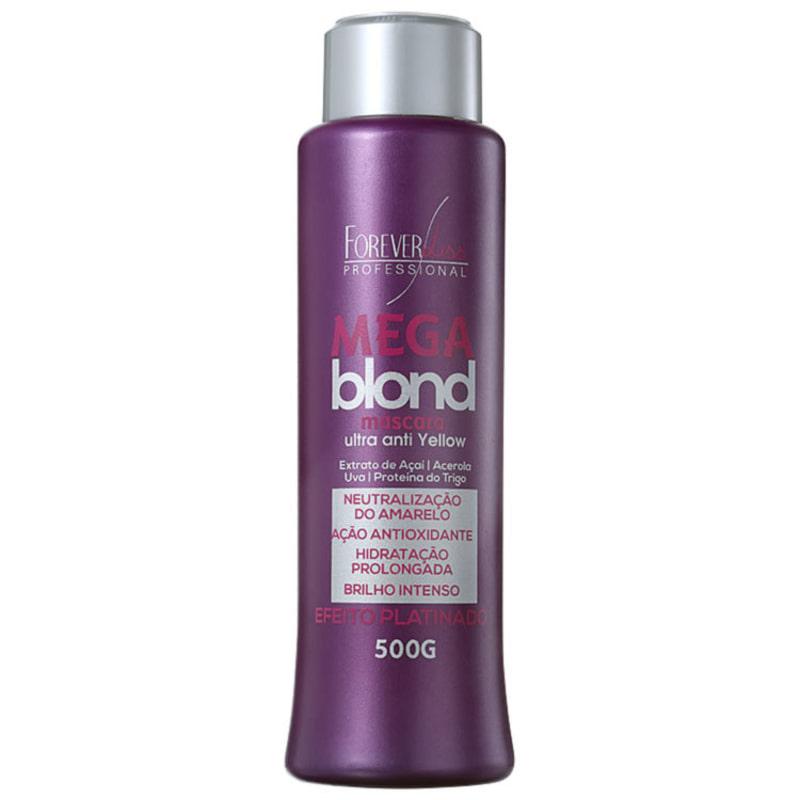 Forever Liss Professional Mega Blond Ultra Matizadora - Máscara de Tratamento 500g
