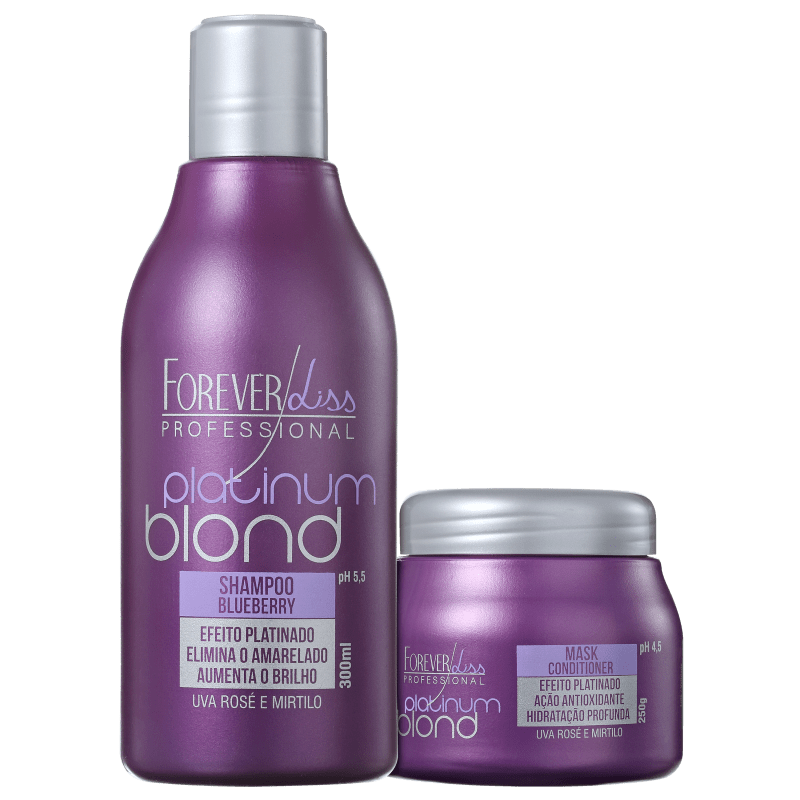 Forever Liss Professional Platinum Blond Loiro Incrível Kit (2 Produtos)