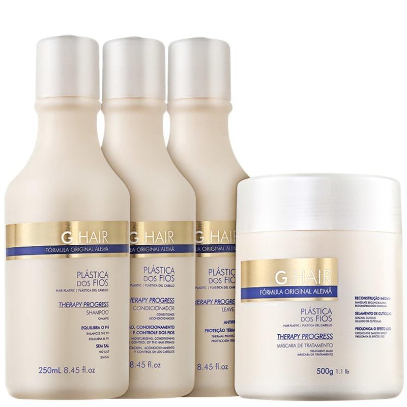 G. Hair Therapy Progress Reconstrução Antifrizz Kit (4 produtos)