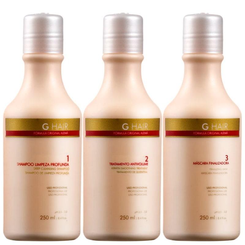 G.Hair Trio Kit Escova Alemã (3 Produtos)