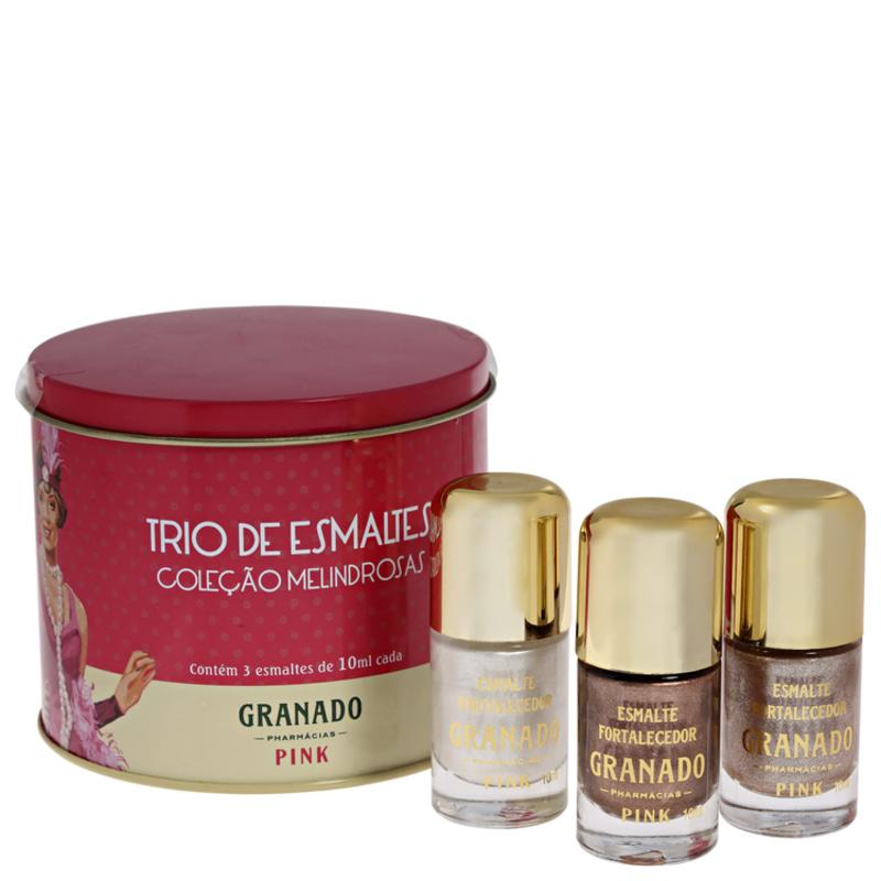 Kit Granado Pink Trio Melindrosas de Esmaltes
