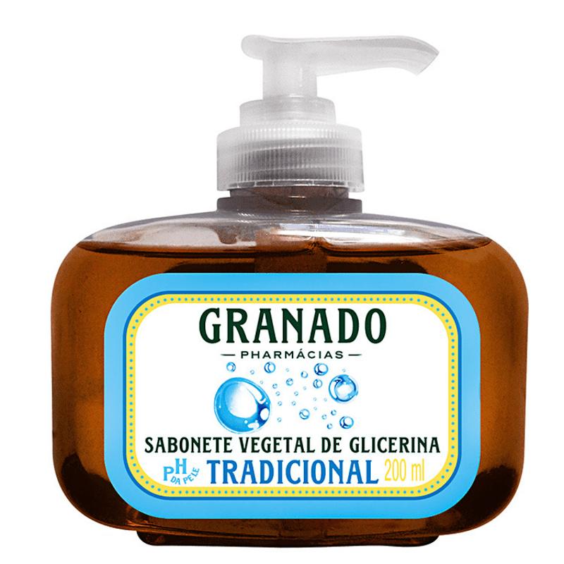 Granado Sabonete Vegetal de Glicerina Tradicional - Sabonete Líquido 200ml