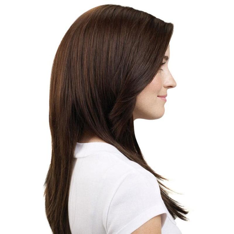 Hairdo Liso em Camadas - Chocolate Com Mechas Cobre 48 Cm