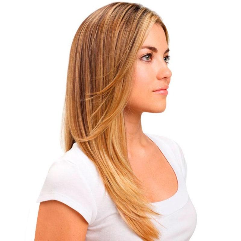 Hairdo Liso em Camadas - Dourado Com Californianas 48 Cm