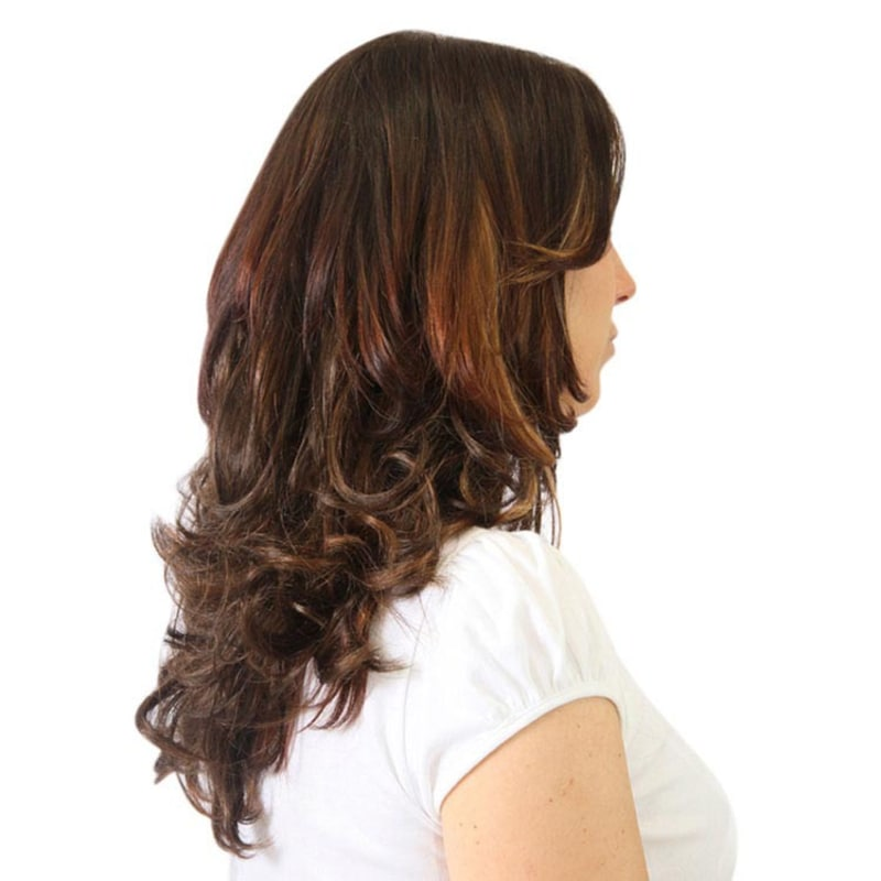 Hairdo Ondulado - Chocolate Com Mechas Cobre 45 Cm