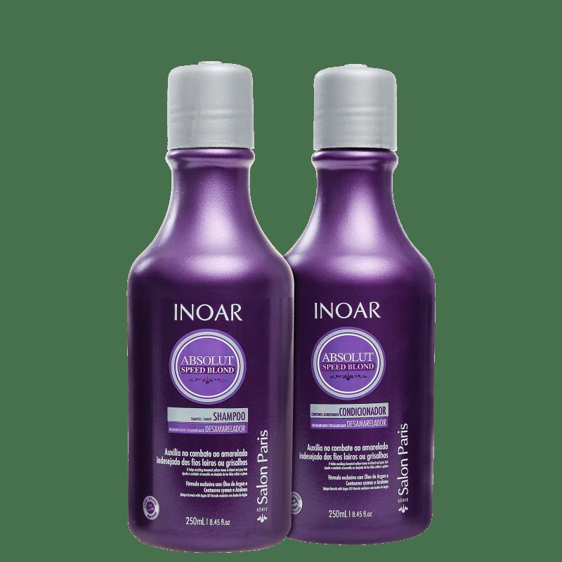 Inoar Absolut Speed Blond Duo Violet Kit (2 Produtos)