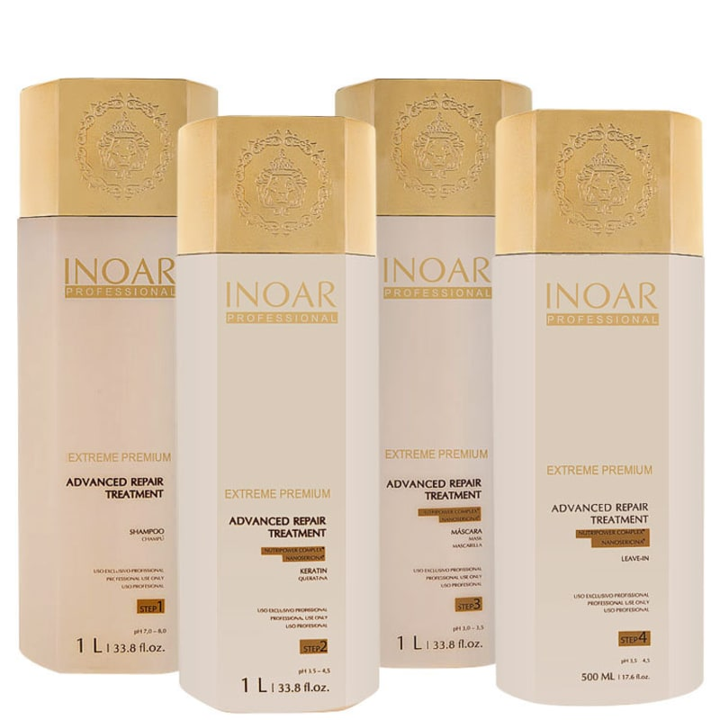 Inoar Extreme Premium Advanced Repair Treatment Kit (4 Produtos)