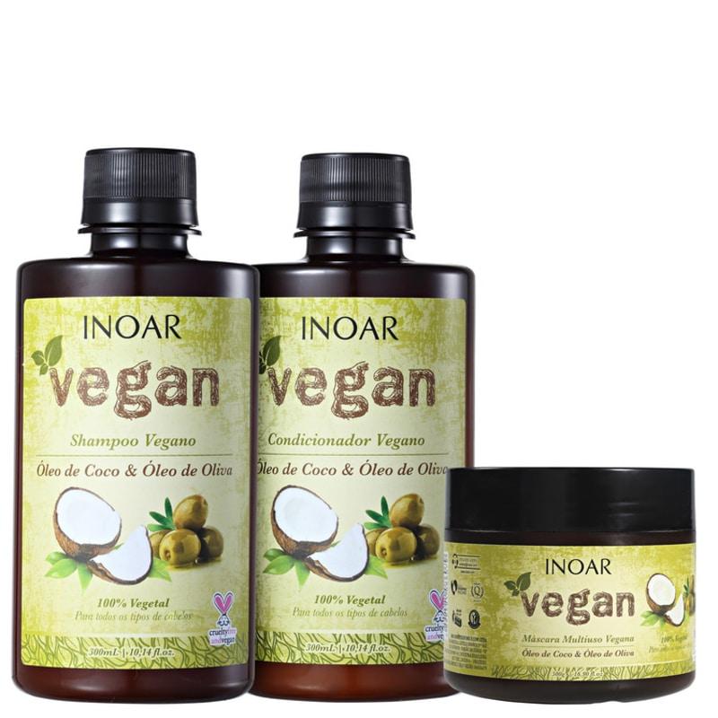 Kit Vegan (shampoo, condicionador e máscara)