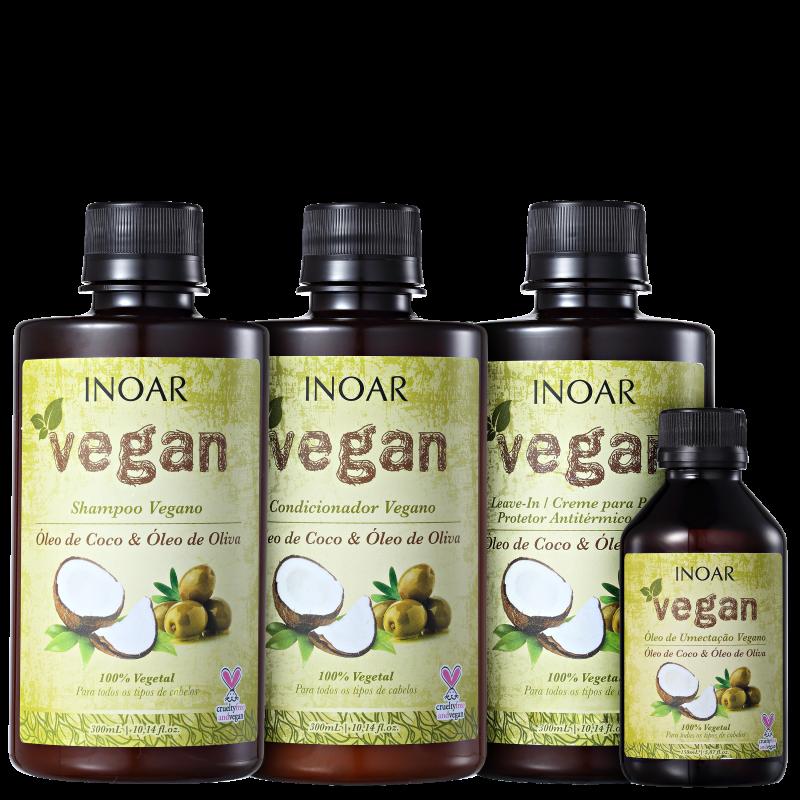 Kit Inoar Vegan Umectação Completa (4 Produtos)