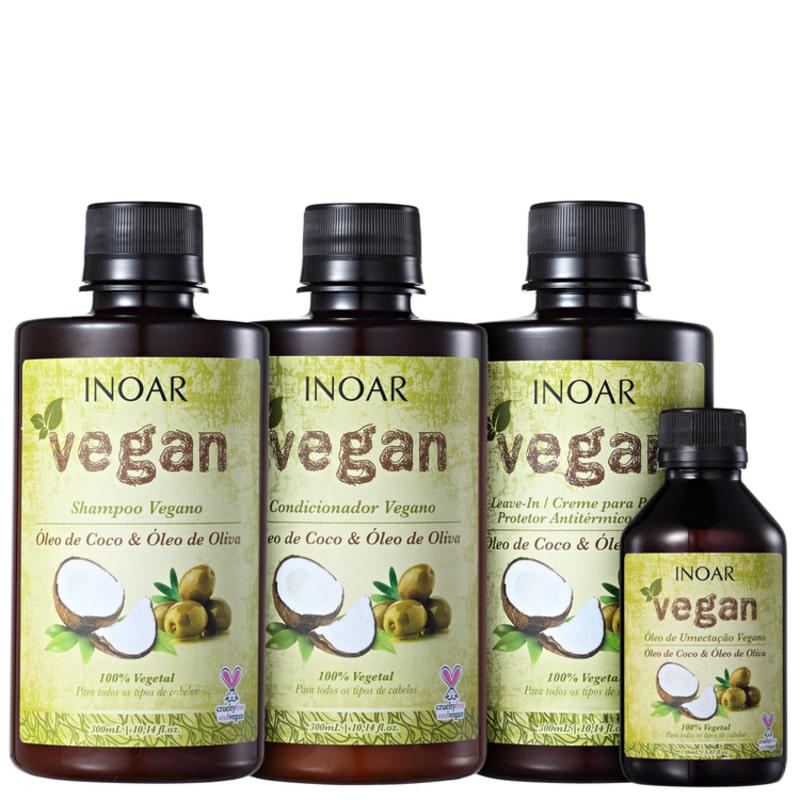 Inoar Vegan Umectação Completa Kit (4 Produtos)
