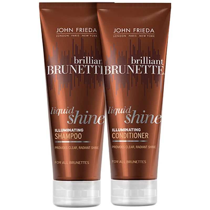 John Frieda Brilliant Brunette Liquid Shine Illuminating Duo Kit (2 Produtos)