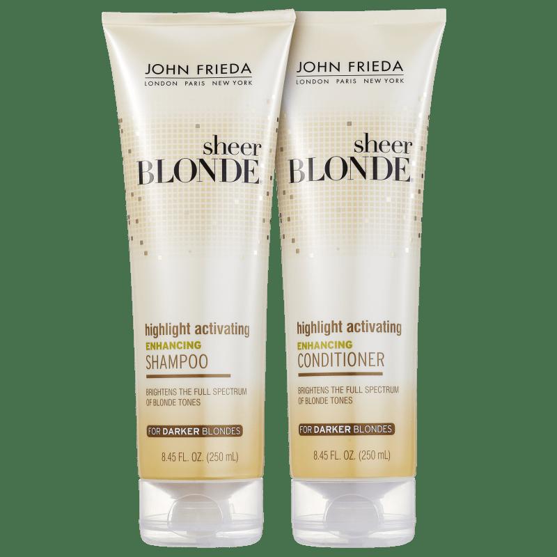 Kit John Frieda Sheer Blonde Highlight Activating Darker Shades Duo (2 Produtos)