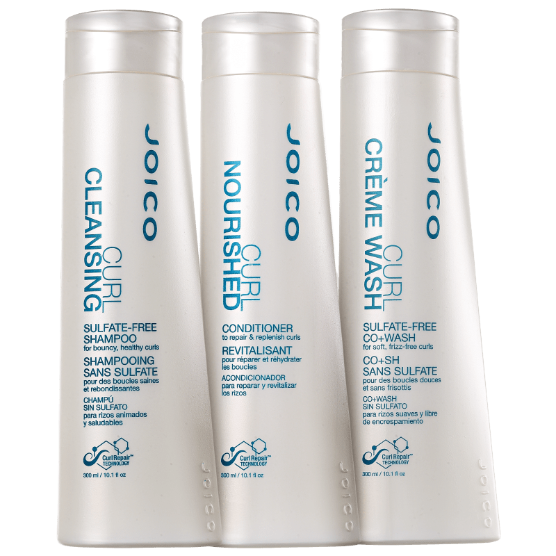 Joico Curl Cleansing Nourished Co+Wash Triplo Kit (3 Produtos)