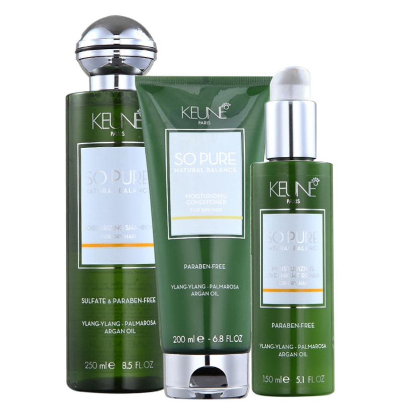 Keune So Pure Moisturizing Overnight Repair Kit (3 Produtos)