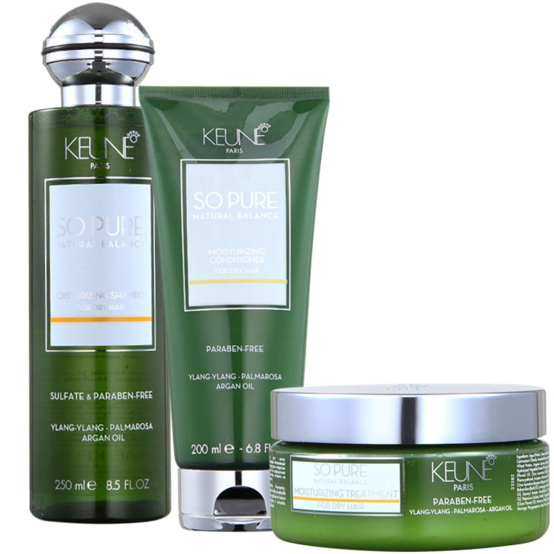 Keune So Pure Moisturizing Treatment Kit (3 Produtos)