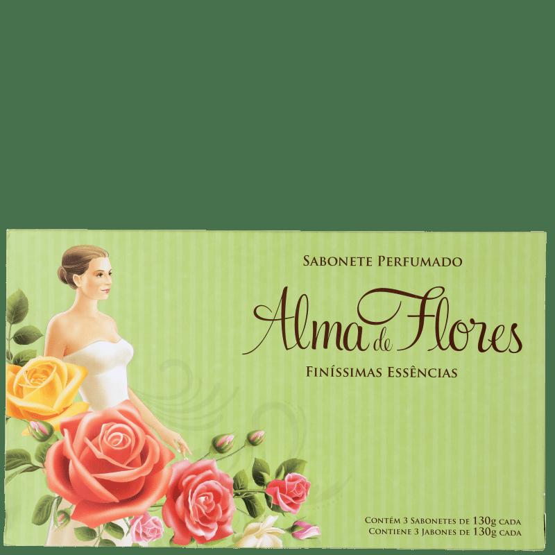 Kit Alma de Flores Finíssimas Essências - Sabonetes em Barra 3x130g