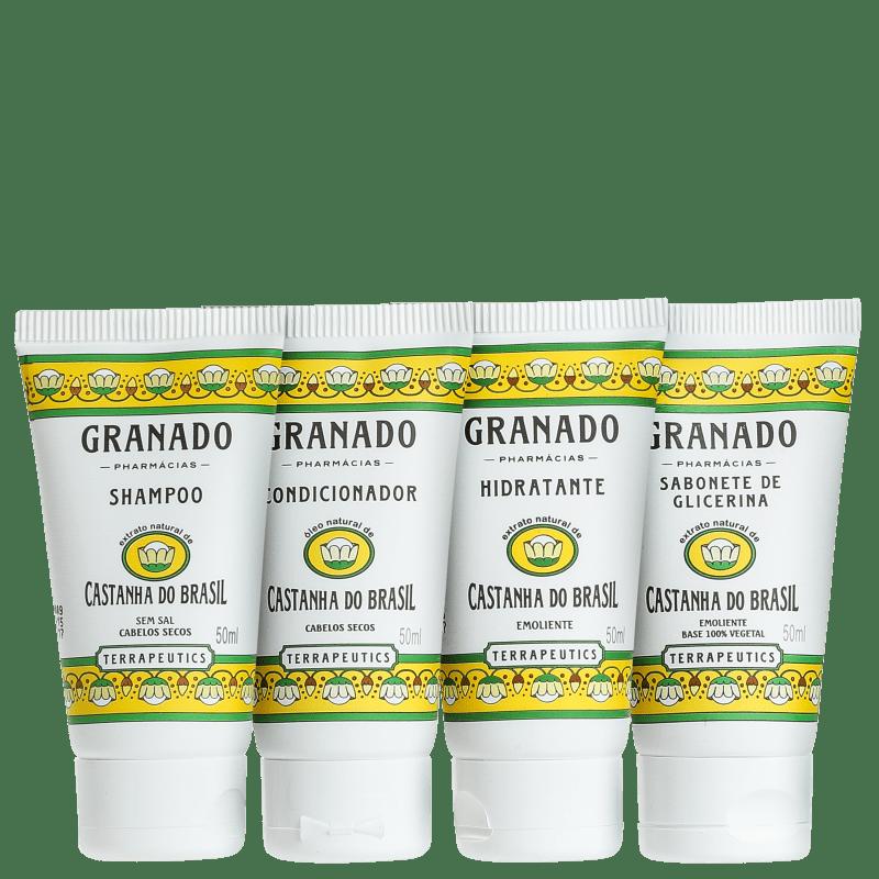Kit Banho Granado Terrapeutics Castanha do Brasil (4 produtos)