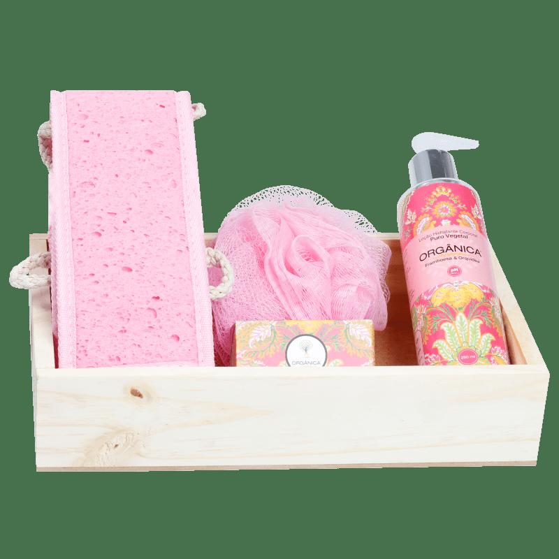 Kit Banho Orgânica Beleza Framboesa & Orquídea (4 produtos)