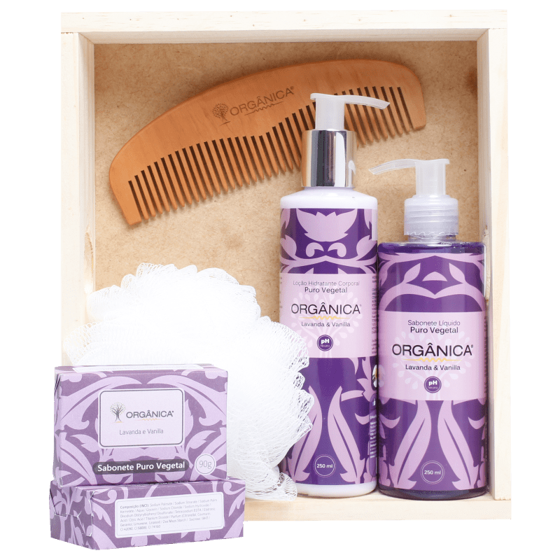Kit Banho Orgânica Diário Lavanda & Vanilla (6 produtos)