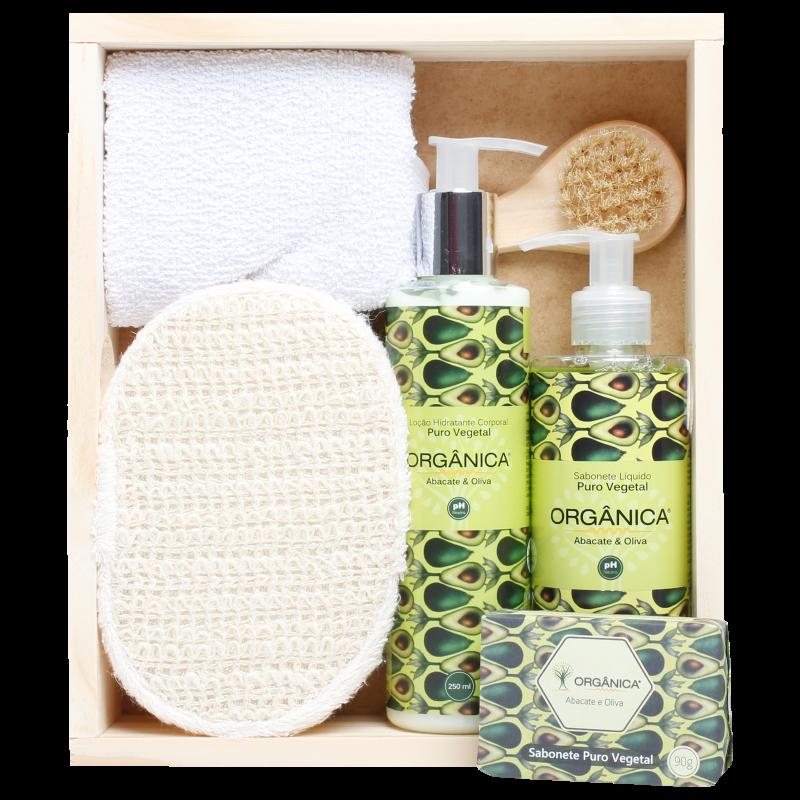 Kit Banho Orgânica Meu Momento Abacate & Oliva (6 produtos)