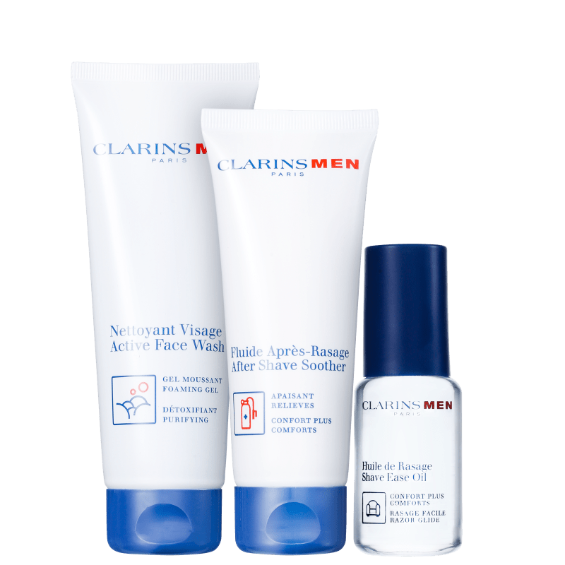 Kit Barba Clarins Men Ease Shave (3 produtos)