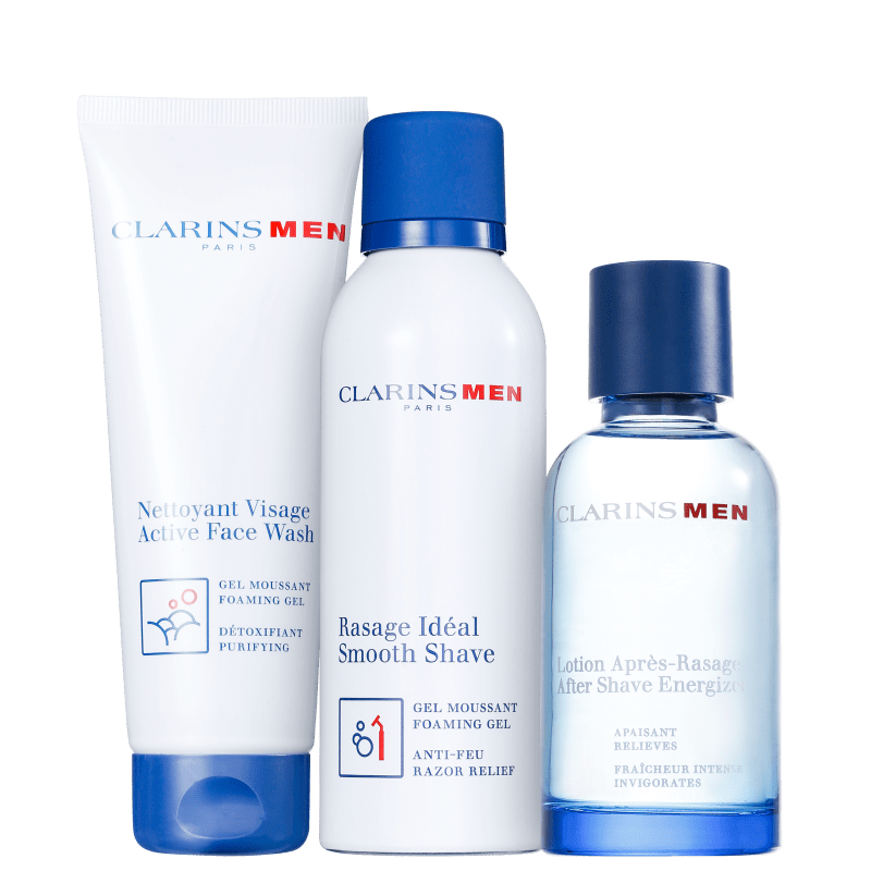 Kit Barba Clarins Men Smooth Shave (3 produtos)